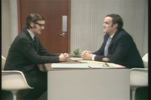 A partner at the accounting firm of Monty Python, LLC (right) advises a client on how not to budget.