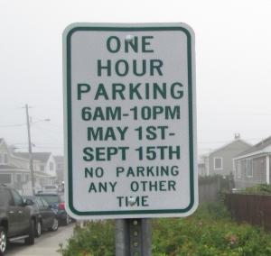los-parking sign