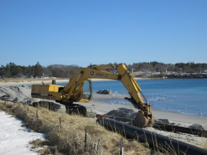 "Western Beach being ""renourished"" this past winter."
